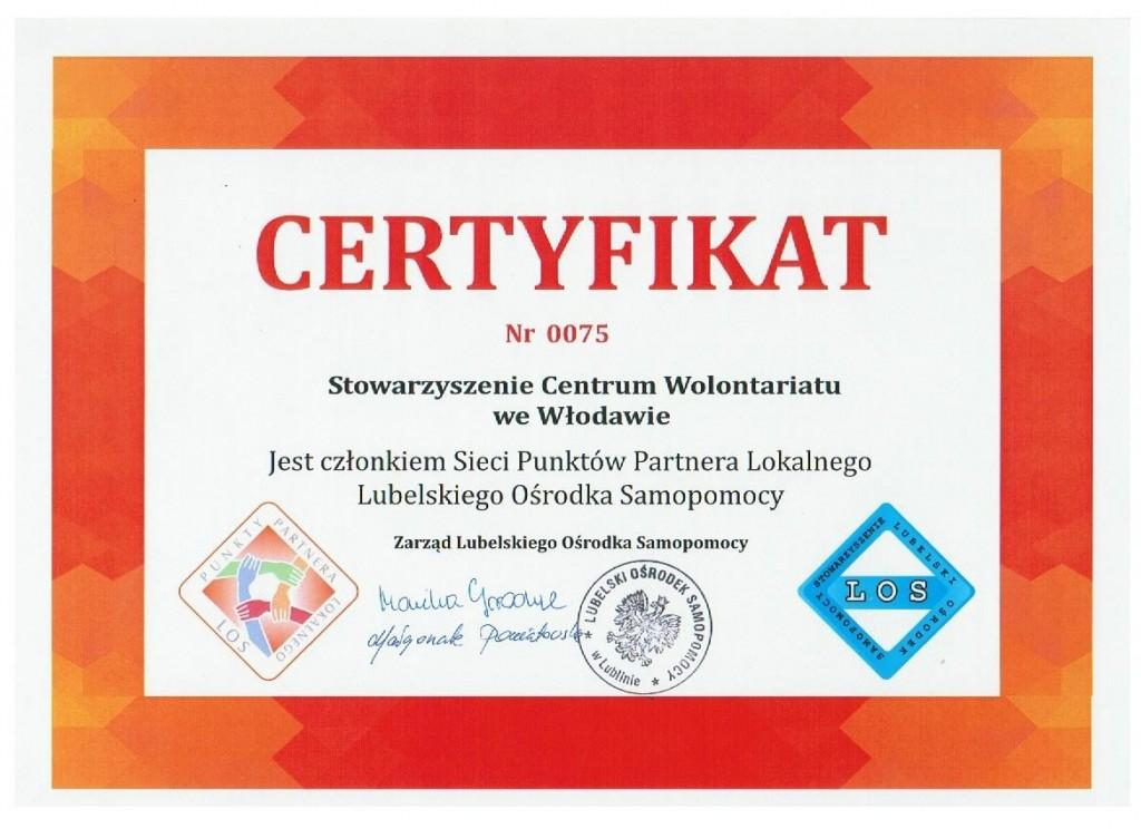 certyfikat LOS